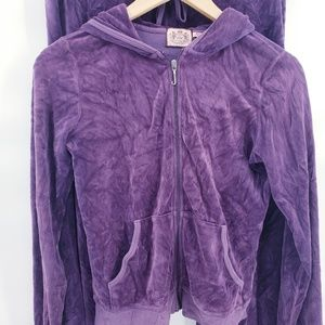 Juicy Couture Jackets & Coats - JUICY COUTURE Track Set J Bling Velour Hoodie